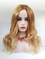 cheap -Women Synthetic Wig Long Straight Ombre Blonde Highlighted/Balayage Hair Natural Wig.