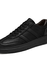 cheap -Men's Shoes Real Leather Cowhide Spring Fall Driving Shoes Comfort Sneakers for Casual Office & Career Black