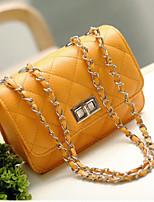 cheap -Women Bags PU Shoulder Bag Zipper for Casual All Season Fuchsia Yellow Orange Black Blue