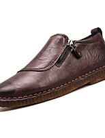 cheap -Men's Shoes Rubber Spring Fall Comfort Loafers & Slip-Ons for Outdoor Brown Gray Black
