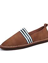 Недорогие -Муж. обувь Натуральная кожа Весна Лето Удобная обувь Обувь для дайвинга Мокасины и Свитер Ленты для Повседневные Серый Коричневый Хаки
