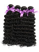 Недорогие -Бразильские волосы Крупные кудри Ткет человеческих волос Человека ткет Волосы Жен. Повседневные