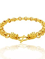 cheap -Men's Chain Bracelet , Floral Rock Hiphop Gold Plated Dragon Circle Jewelry Club Street