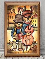 baratos -Ilustração Arte de Parede,Liga de Alúminio Material com frame For Decoração para casa Arte Emoldurada Interior