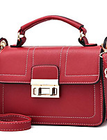 cheap -Women's Bags PU Shoulder Bag Zipper for Casual Winter Summer Black Wine
