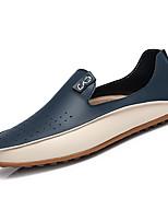 baratos -Homens sapatos Micofibra Sintética PU Primavera Outono Conforto Mocassins e Slip-Ons para Casual Bege Azul