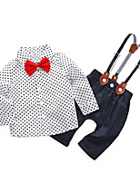 cheap -Baby Boys' Daily Polka Dot Clothing Set,Cotton Polyester Spring Simple Long Sleeve White