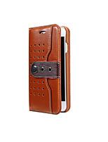 Недорогие -Кейс для Назначение Apple iPhone 8 iPhone 8 Plus Бумажник для карт со стендом Флип Чехол Сплошной цвет Твердый Искусственная кожа для