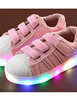 cheap -Girls' Shoes Leather Spring Fall Comfort Sneakers for Casual Pink Black White