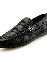 baratos -Homens sapatos Couro Ecológico Primavera Outono Conforto Mocassins e Slip-Ons para Casual Preto Marron