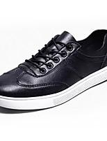 economico -Per uomo Scarpe Pelle Primavera Autunno Comoda Sneakers per Casual Nero Marrone Cachi