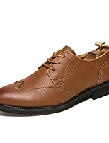 cheap -Men's Shoes Leatherette Spring Fall Comfort Oxfords for Casual Office & Career Brown Black White
