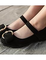 Недорогие -Девочки обувь Флис Весна Осень Удобная обувь Мокасины и Свитер для Повседневные Черный Красный Зеленый