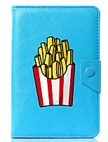cheap -Universal Cartoon French Fries PU Leather Stand Cover Case For 7 Inch 8 Inch 9 Inch 10 Inch Tablet PC