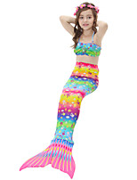 cheap -Girls' Cute Active Print Swimwear, Cotton Polyester Sleeveless Rainbow