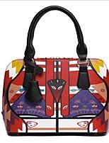 preiswerte -Damen Taschen PU Polyester Tragetasche Muster / Druck Reißverschluss für Normal Alle Jahreszeiten Rote Braun