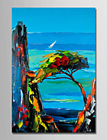 cheap -Hand-Painted Landscape Vertical, Simple Modern Canvas Oil Painting Home Decoration One Panel