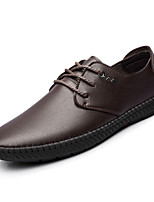 cheap -Men's Shoes Synthetic Microfiber PU PU Leatherette Spring Fall Comfort Oxfords for Casual Brown Black