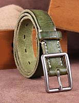 Недорогие -Муж. Для офиса Пояс на талию,Современный Настоящая кожа Зеленый Черный Красный Верблюжий Светло-коричневый