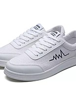 cheap -Men's Shoes Rubber Spring Fall Comfort Sneakers for Outdoor White Black Beige