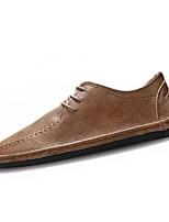 Недорогие -обувь Искусственное волокно Весна Осень Удобная обувь Туфли на шнуровке для Повседневные Черный Серый Коричневый