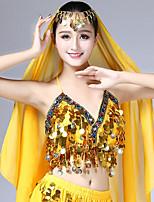 cheap -Belly Dance Tops Women's Performance Chiffon Paillette Sleeveless High Tops
