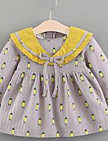 cheap -Baby Girl's Daily Dress, Cotton Cute Sleeveless White Blushing Pink Gray