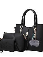 preiswerte -Damen Taschen PU 3 Stück Geldbörse Set Reißverschluss für Einkauf Normal Alle Jahreszeiten Blau Schwarz Rote Rosa Grau