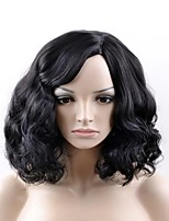 cheap -Synthetic Hair Wigs Kinky Curly Natural Wigs Medium Natural Black