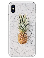 economico -Custodia Per Apple iPhone X iPhone 8 Plus Fantasia/disegno Per retro Effetto marmo Frutta Morbido TPU per iPhone X iPhone 8 Plus iPhone 8