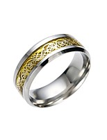economico -Per uomo Band Ring , Asiatico Vintage Acciaio inossidabile Dragon Pattern Bigiotteria Regalo Quotidiano