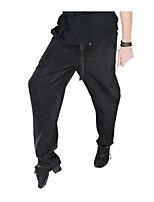 abordables -Baile Latino Pantalones y Faldas Hombre Actuación Licra Ceñido Sin mangas Cintura Media Pantalones