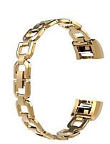 economico -Cinturino per orologio  per Fitbit Charge 2 Fitbit Custodia con cinturino a strappo Chiusura moderna Acciaio inossidabile