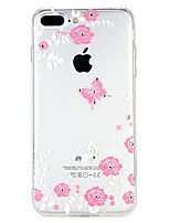 abordables -Funda Para Apple iPhone 7 iPhone 6 Diamantes Sintéticos En Relieve Cubierta Trasera Caricatura Flor Suave TPU para iPhone 8 Plus iPhone 8