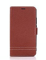 cheap -Case For Huawei Mate 10 lite Mate 10 Card Holder Wallet with Stand Flip Full Body Solid Color Hard PU Leather for Mate 10 Mate 10 lite