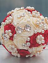 """Недорогие -Свадебные цветы Букеты Свадьба Бусины Стразы Satin Около 14 см 9,06""""(около 23см)"""