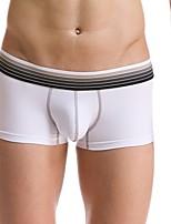 cheap -Men's Micro-elastic Solid Boxers Underwear Medium,Cotton Spandex 1pc Royal Blue Army Green Gray Red Black