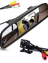Недорогие -ziqiao 4,3-дюймовый цифровой tft ЖК-монитор зеркала и 8led ccd hd автомобиль камера заднего вида