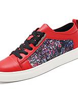 Недорогие -обувь Полиуретан Весна Осень Удобная обувь Кеды для Повседневные Черный Красный