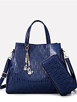 preiswerte -Damen Taschen PU Tragetasche 2 Stück Geldbörse Set Schleife(n) für Alle Jahreszeiten Gold Schwarz Dunkelblau