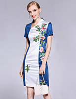 cheap -8CFAMILY Women's Sheath Dress - Floral, Flower