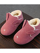 cheap -Girls' Shoes Nubuck leather Winter Fall Comfort Snow Boots Boots Booties/Ankle Boots for Casual Light Brown Pink Gray