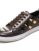 cheap -Men's Shoes PU Spring Fall Comfort Sneakers for Casual Black White Gold