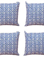 cheap -4 pcs Textile Cotton/Linen Pillow Cover, Striped Geometric Abstract