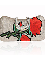 cheap -Women's Ladies' Bags Polyester Evening Bag Appliques for Wedding Event/Party All Season Purple Gray Red Silver Black