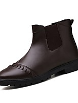cheap -Men's Shoes Nappa Leather Spring Fall Comfort Boots for Outdoor Black Brown