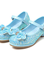 cheap -Girls' Shoes Paillette Spring Fall Tiny Heels for Teens Flower Girl Shoes Heels Rhinestone Bowknot Sequin Appliques Hook & Loop for Party