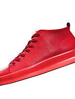 cheap -Men's Shoes PU Winter Comfort Sneakers for Casual White Black Red