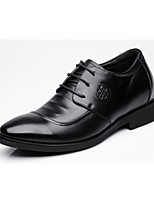 cheap -Men's Shoes Leather Spring Fall Formal Shoes Oxfords for Casual Office & Career Black