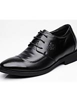 Недорогие -Муж. обувь Натуральная кожа Весна Осень Формальная обувь Туфли на шнуровке для Повседневные Черный